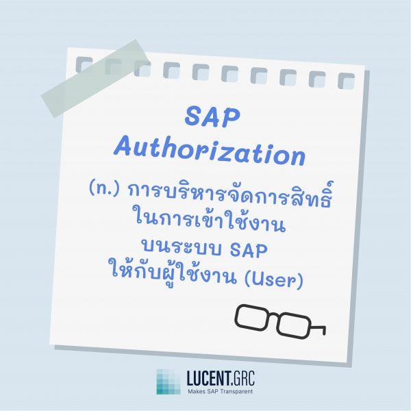 SAP Terminology คำศํพท์น่ารู้ SAP SAP Authorization