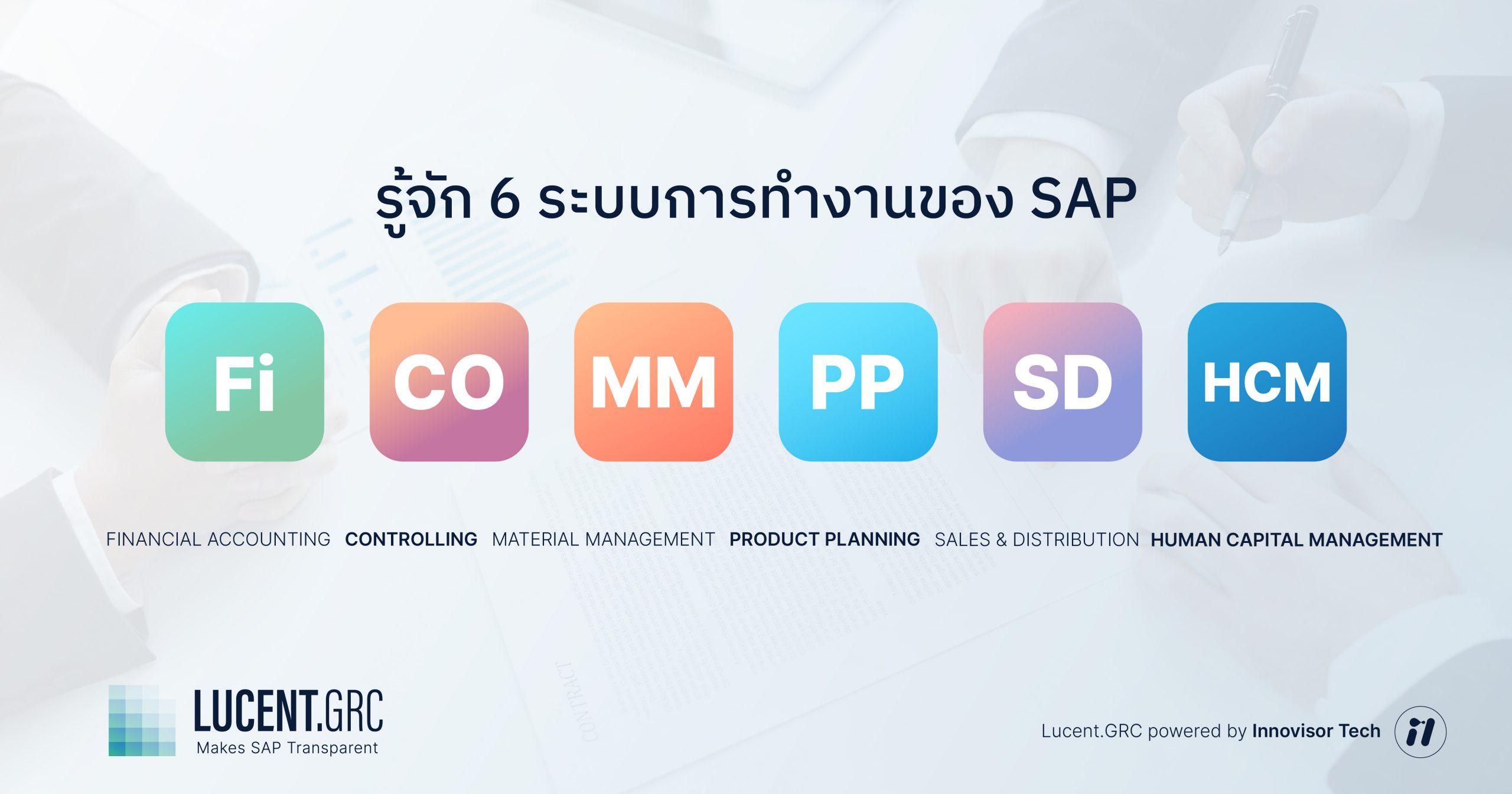 SAP Module โมดูล ที่นิยมใช้งาน