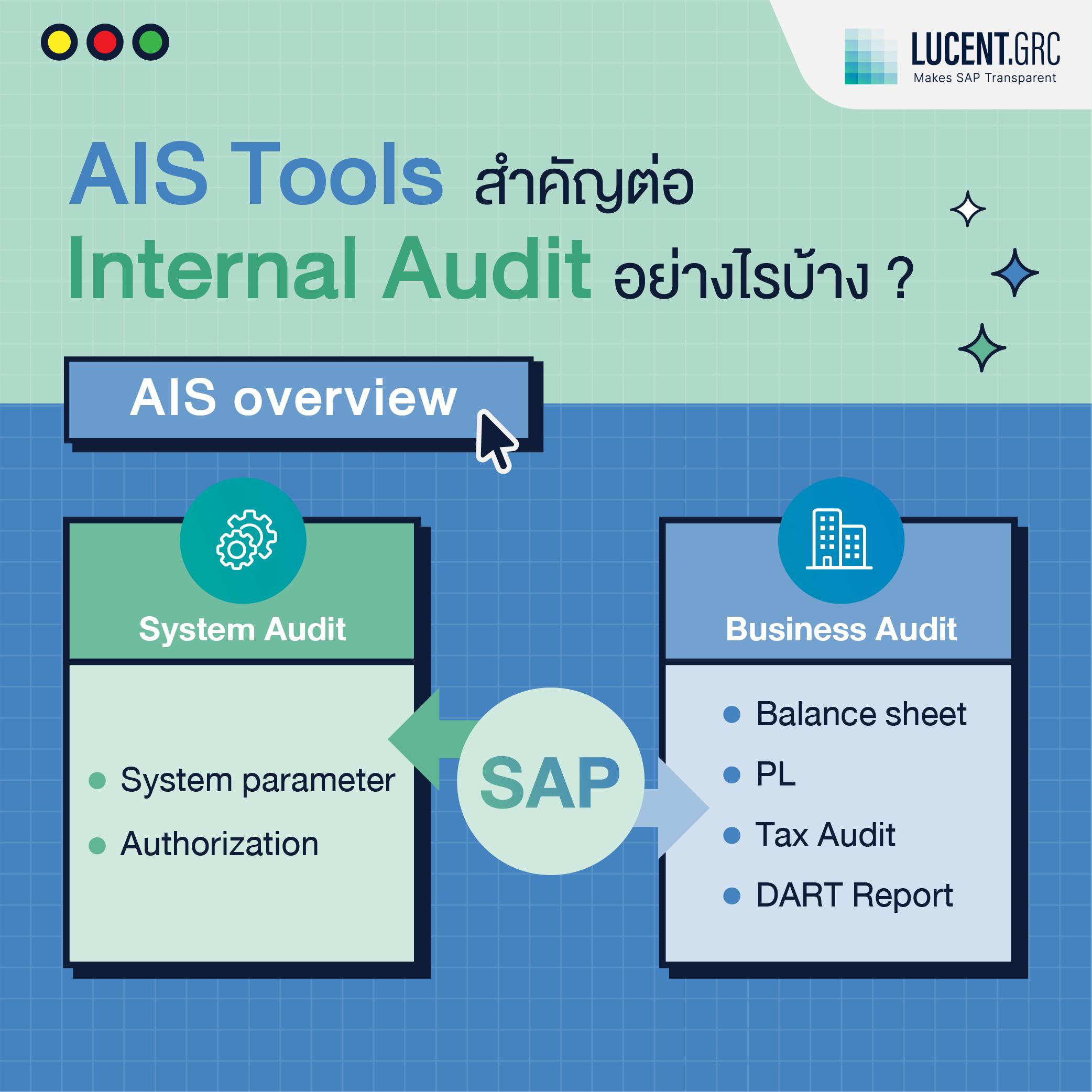 SAP AIS Tools - Internal Audit